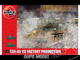 Airfix maquette militaire A1361 T34/8 112 Factory Production 1/35