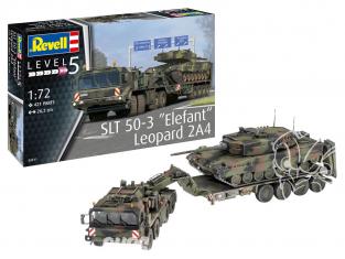"""Revell maquette militaire 03311 SLT 50-3 """"Elefant"""" avec Leopard 2A4 1/72"""