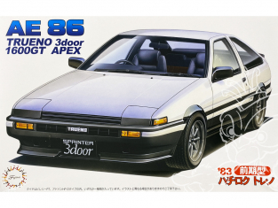 Fujimi maquette voiture 034409 Toyota AE86 Trueno 1600GT Apex 3 Portes 1983 1/24