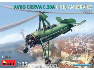 Mini Art maquette avion 41006 AVRO CIERVA C.30A CIVIL 1/35