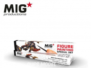 MIG Productions by Ak pinceaux MP1019 Set de pinceaux pour Figurines Marte de Kolinsky