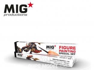 MIG Productions by Ak pinceaux MP1019 Set de pinceaux pour Figurines Marte de Kolinsky