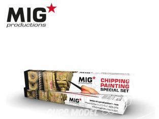MIG Productions by Ak pinceaux MP1020 Set de pinceaux pour Ecaillage / Eclats Marte de Kolinsky