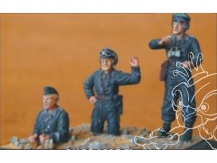 CMK figurine f35001 Équipage de char allemand 3 figurines 1/35