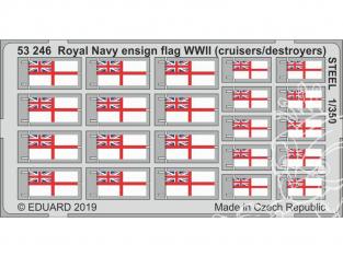 Eduard photodecoupe bateau 53246 Drapeaux Royal Navy WWII (Croiseurs - Destroyers) 1/350