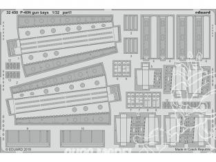 Eduard photodécoupe avion 32450 Gun bays P-40N Trumpeter 1/32