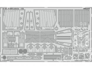 Eduard photodécoupe avion 32451 Extérieur P-40N Trumpeter 1/32