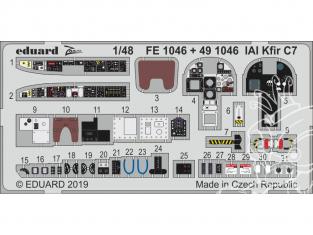 EDUARD photodecoupe avion FE1046 Zoom Intérieur IAI Kfir C7 AMK 1/48