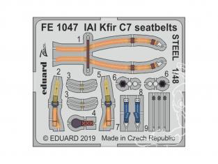 EDUARD photodecoupe avion FE1047 Harnais métal IAI Kfir C7 AMK 1/48
