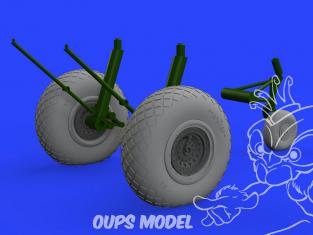 Eduard kit d'amelioration avion brassin 648529 Roues B-17 Hk Models 1/48