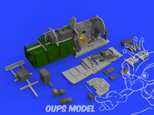 Eduard kit d'amelioration avion brassin 648522 Cockpit P-51D Eduard 1/48