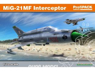 EDUARD maquette avion 70141 MiG-21MF Interceptor ProfiPack Edition 1/72