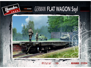 Thunder Model maquette militaire 35904 Wagon plat Allemand Ssyl 1/35