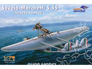 Dora Wings maquette avion DW72020 Savoia-Marchetti S.55 Bombardier torpilleur 1/72