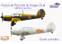 Dora Wings maquette avion DW7202D Percival Proctor & Vega Gull Service militaire Dual Combo 1/72