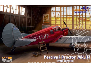 Dora Wings maquette avion DW48016 Percival Proctor Mk.III Service civil 1/48