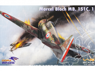 Dora Wings maquette avion DW48017 Marcel Bloch MB.151C.1 1/48