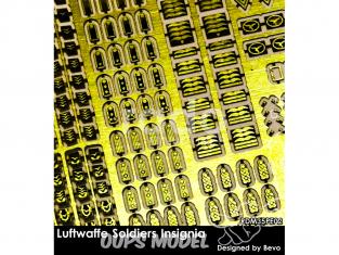 Rado miniatures figurines photodécoupe RDM35PE02 Set Insignes Soldats Luftwaffe 1/35