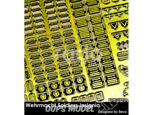 Rado miniatures figurines photodécoupe RDM35PE03 Set Insignes Soldats Wehrmacht 1/35