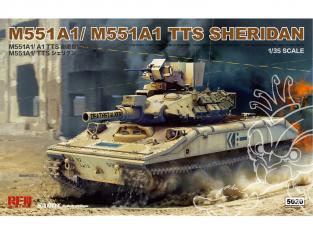 Rye Field Model maquette militaire 5020 M551A1/ M551A1 TTS Sheridan 1/35