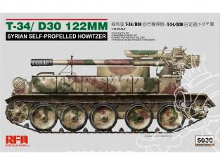 Rye Field Model maquette militaire 5030 T-34 / D30 122mm Obusier automoteur Syrien 1/35