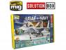MIG Solution Box 7709 USAF / US Navy Chasseurs gris Couleurs et vieillissement - Livre