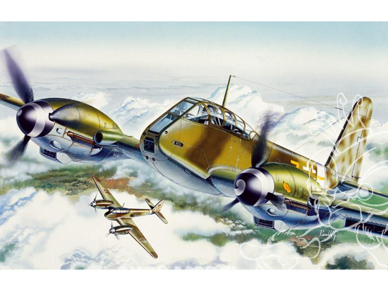 italeri maquette avion 0074 me410 1/72