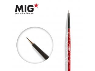 MIG Productions by Ak pinceau MP1004 Pinceau rond 10/0 Marte de Kolinsky