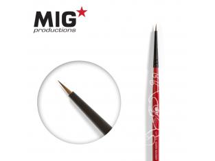 MIG Productions by Ak pinceau MP1005 Pinceau rond 9/0 Marte de Kolinsky