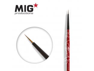 MIG Productions by Ak pinceau MP1006 Pinceau rond 8/0 Marte de Kolinsky