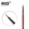 MIG Productions by Ak pinceau MP1008 Pinceau rond 6/0 Marte de Kolinsky