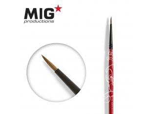 MIG Productions by Ak pinceau MP1009 Pinceau rond 5/0 Marte de Kolinsky