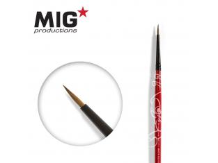 MIG Productions by Ak pinceau MP1010 Pinceau rond 4/0 Marte de Kolinsky