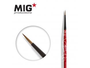 MIG Productions by Ak pinceau MP1011 Pinceau rond 3/0 Marte de Kolinsky