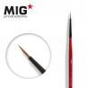 MIG Productions by Ak pinceau MP1012 Pinceau rond 2/0 Marte de Kolinsky