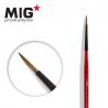 MIG Productions by Ak pinceau MP1013 Pinceau rond 0 Marte de Kolinsky