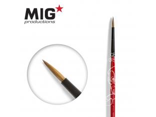 MIG Productions by Ak pinceau MP1014 Pinceau rond 1 Marte de Kolinsky