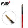 MIG Productions by Ak pinceau MP1015 Pinceau rond 2 Marte de Kolinsky