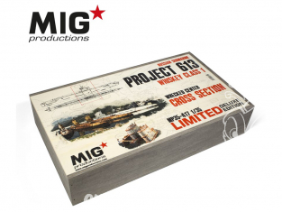 MIG Productions by AK MP35-417 Sous-Marin Russe Project 613 Whiskey Class 1 Section centrale Epave 1/35