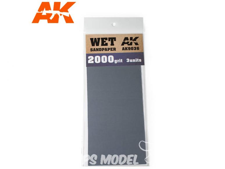 AK interactive outillage ak9036 Papier abrasif à l'eau Grain 2000