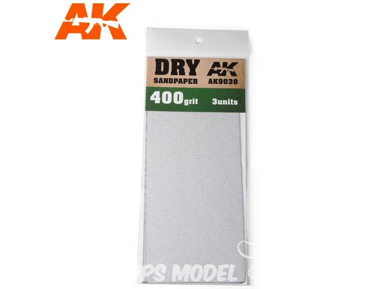 AK interactive outillage ak9038 Papier abrasif à sec Grain 400