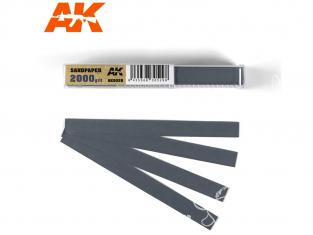 AK interactive outillage ak9028 Bandes de papier abrasif à l'eau Grain 2000