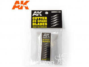 AK interactive outillage ak9011B 20 lames de Cutter