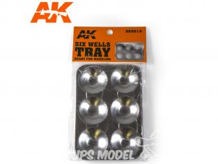 AK interactive outillage ak9014 Palettes à peinture 6 coupelles