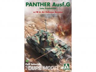 Takom maquette militaire 2121 Char allemand Panther Ausf.G Late production 1/35