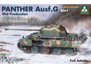 Takom maquette militaire 2120 Char allemand Panther Ausf.G Mid production 2in1 1/35