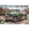Takom maquette militaire 2126 1/4 Ton Jeep avec remorque et figurine MP 1/35