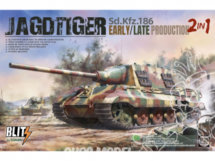 Takom maquette militaire 8001 Jagtiger Sd.Kfz.186 Early et Late production 2in1 1/35