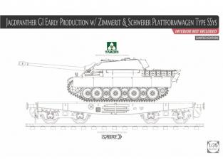 Takom maquette militaire 2125X Sd.Kfz. 173 Pz.Jg. Jagdpanther G1 et Wagon Schwerer Plattformwagen Type SSys 1/35
