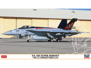 """HASEGAWA maquette avion 02309 F / A-18E Super Hornet """"VFA-14 TopHatters CAG"""" 1/72"""